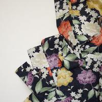 紅葉に牡丹模様【タックラップスカート】