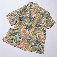 型染流水草花屋模様(地紋なし)【M】【ケニシャツ】