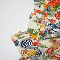 松竹梅に花・古典柄模様【タックラップスカート】
