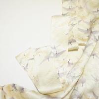 抽象鳥模様総地紋【ギャザーラップスカート】