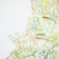 抽象模様薔薇総地紋【ギャザーラップスカート】