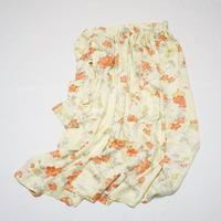 牡丹・梅・笹模様に流水地紋【ギャザーラップスカート】