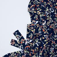 幾何学花模様【ギャザーラップスカート】