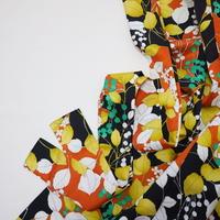 木の葉と実模様【ギャザーラップスカート】