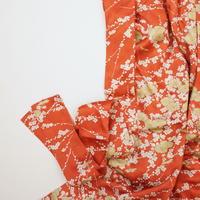 菊に梅模様【ギャザーラップスカート】