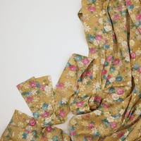 菊梅椿に楓草花模様【ギャザーラップスカート】