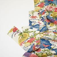 型染め・花に蛇籠・蝶模様【ギャザーラップスカート】