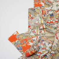 古典家屋模様【タックラップスカート】