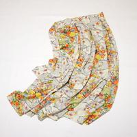 流水に楓菊菖蒲に笹模様【タックラップスカート】