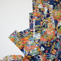 短冊に花車模様【ギャザーラップスカート】