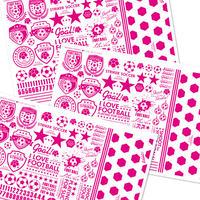 【3枚セット】サッカー&フットサル(ピンク)