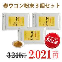 【スーパーSALE】やんばる春ウコン粉末タイプ 100g  3個セット