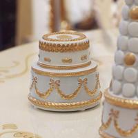 VILLARI リボンガーランド  ケーキ型ボックス    ライトブルー B