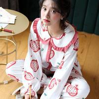 かわいいプリンセススタイル 綿のツーピースパジャマ