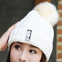 ホワイト ニット帽 キャップ