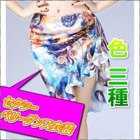 無地半袖tシャツ+花柄ミニスカート二点セット