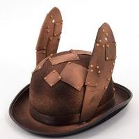 スチームパンク帽子レトロウサギ耳パッチメガネ装飾帽子