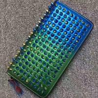 ロングリベットファッションクラッチバッグユニセックス長財布