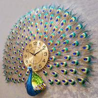 ビッグクリスタル孔雀壁時計