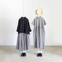 ichi 191227 Gingham Check Skirt  / BLACK