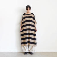 ichi 201254 Linen Border Knit One Piece / 2 COLORS
