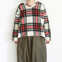 ichi 200538 Boa Check Pullover / 2 COLORS