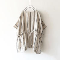 ichi 200315 Linen Stripe Pullover / 2 COLOR