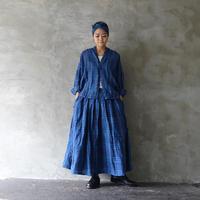 ichi 201224 Indigo Linen Check Shirt  / B : CHECK