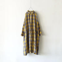 ichiAntiquités 500313 LinenTartan Shirt Dress / YELLOW