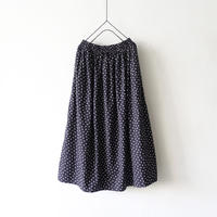 """LIMITED COLOR"" ichi 201019 Dot Gather Skirt / C : BLACK"