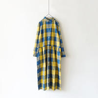 ichi 190421 Indigo Check One Piece / YELLOW CHECK