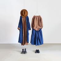 ichiAntiquités 500323 INDIGO Linen Skirt / INDIGO