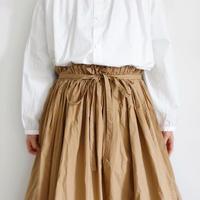 ichi 191019 Cotton Typewriter Wrap Skirt / WHITE・BEIGE