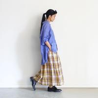ichiAntiquités 600917 Linen Farmers Tartan Skirt / B : BEIGE