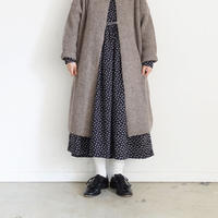ichi 200478 Knit Long Cardigan / MOCHA・BLACK