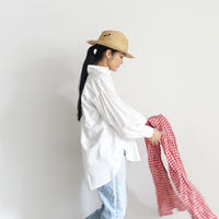 ichiAntiquités 600901 Cotton AZUMADAKI Volume Sleeve Shirt / 2 COLORS : WHITE・PINK