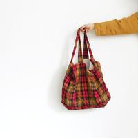 ichiAntiquités 600321 Linen Classic Tartan Bag / RED