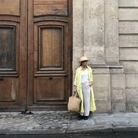 ichiAntiquités 500134 Vacance Linen Shirt Dress / LEMON