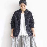 ichiAntiquités 600361 Snow nep Knit Cardigan  /  D : CHARCOAL