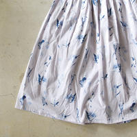 i c h i 181018 Botanical Flower Skirt / Gray