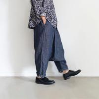 ichiAntiquités 600334 Linen Sarouel Pants / DENIM