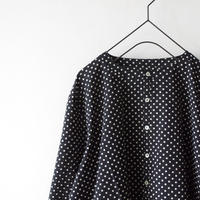 i c h i 181007 Dot Blouse  / Black