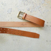ichiAntiquités 500000 Leather Belt / BROWN