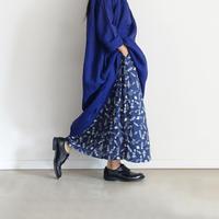 ichiAntiquités 600124 Flower Linen Skirt / NAVY
