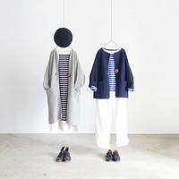 ichi 190467 Kanoko Knit Long Cardigan / 2 COLOR
