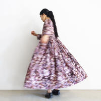 【ONLINE LIMITED】i c h i  201143 Painting Flower Volume Dress / C : PINK