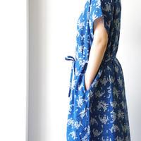 i c h i 181216 Indigo Flower Dress