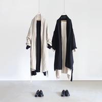 ichiAntiquités  601224  Linen AZUMADAKI Long Robe / 2 COLORS