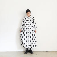 ichi 200402 Dot Print Shirt One Piece / 2 COLORS