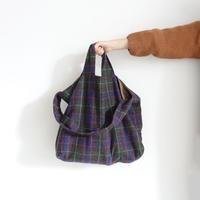 ichi 200429 Tweed Check Bag / 2 COLORS